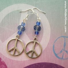MettaMoon Blue Peace Earrings $12 www.METTAMOON.com