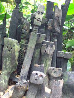 Creepy, cool garden art
