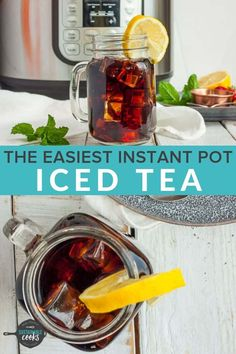 You'll love this smooth and Easy Instant Pot Iced Tea for a quick and healthy refreshing drink. Also learn to make tea concentrate to save fridge space. Tea Concentrate Recipe, Iced Coffee Concentrate, Instant Pot Pressure Cooker, Pressure Cooker Recipes, Pressure Cooking, Iced Tea Maker, Making Iced Tea, Iced Tea Recipes, Instant Pot Dinner Recipes