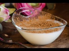Greek Recipes, Jello, Glass Of Milk, Panna Cotta, Caramel, Puddings, Ethnic Recipes, Desserts, Youtube