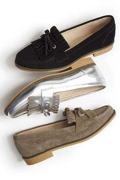 Fringe-and-bow loafers by Sole Society