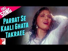 Bring out your romantic self and enjoy this monsoon song 'Parbat Se Kaali Ghata Takraee' from the film 'Chandni. Old Hindi Movie Songs, Love Songs Hindi, Song Hindi, Bollywood Music Videos, Asha Bhosle, Yash Raj Films, Rishi Kapoor, Hindi Video, New Friendship