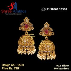 Delectable, danglers fashioned using 92.5 silver and sequined with the purest polkis, moissanites and precious stones. Pick this from Shree Ambica - Your Trusted Jewellers for the upcoming festive/wedding season. Readily available in stock For Price and Details Message on - +919866110500 #ShreeAmbica #TrustedJewellers #SilverJewellery #jadau #jadaujewellery #polkijewellery #uncutdiamondjewellery #indianbride #indianwedding #jewelryaddict #handcraftedjewellery #finejewellery Silver Jewellery, Fine Jewelry, Uncut Diamond, Jewellery Designs, Wedding Season, Handcrafted Jewelry, Festive, Stones, Pure Products