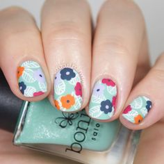 The Digital Dozen does Floral - Day 2: Pinterest Wallpaper Floral Nail Art (via Bloglovin.com )