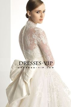 2016 High Neck Wedding Dresses Long Sleeves With Applique New