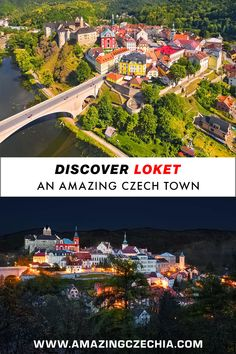 """Loket is an extremely picturesque small town in Karlovy Vary region in western Bohemia. The word loket means """"elbow"""" in the Czech language. Bus Network, Ways To Travel, Public Transport, Aerial View, Continents, Small Towns, Travel Around, Old Town, City Photo"""