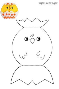 Malvorlagen für Kinder Here you can print out the Easter chick coloring page for free. You can find Easter Activities, Preschool Crafts, Rainbow Cartoon, Mermaid Invitations, First Fathers Day Gifts, Arts And Crafts, Paper Crafts, Easter Crafts For Kids, Spring Crafts