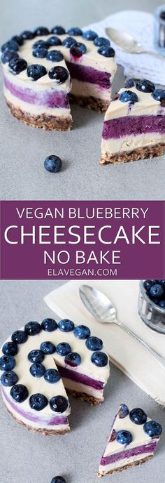 Raw vegan blueberry cheesecake recipe Pinterest