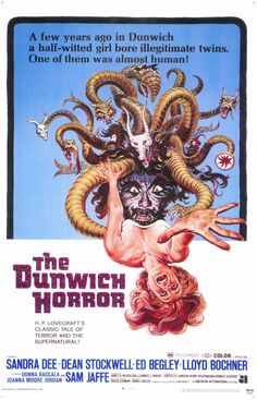 The Dunwich Horror Poster Sandra Dee Dean Stockwell Lloyd Bochner Horror Movie Posters, Movie Poster Art, Horror Films, Horror Tale, Horror Books, Cinema Posters, Art Posters, Sandra Dee, The Dunwich Horror