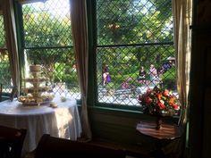 Looking out on the outdoor ceremony