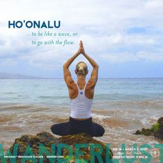 """""""Ho'onalu is one of the Hawaiian words for meditation. It means literally - 'to make like or be like a wave' more clearly it means 'to go with the flow'. Hawaiian Words And Meanings, Hawaiian Phrases, Hawaiian Sayings, Hawaii Quotes, Just Breathe Tattoo, Turtle Bay Resort, Hawaiian Homes, Aloha Spirit, Hawaiian Tattoo"""