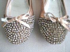sparkly crystal slippers