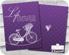 Erin Condren Life Planner Bicycle Cover Instant by Stationery List, Printable Planner, Printables, Erin Condren Life Planner, I Shop, Bicycle, Cover, Bicycle Kick, Print Templates