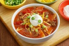 Tortilla soup can be served before the main dish or serve as an entree it self. This page contains tortilla soup recipes. Crock Pot Tacos, Slow Cooker Tacos, Slow Cooker Recipes, Cooking Recipes, Crockpot Recipes, Slow Cooking, Pb2 Recipes, Mexican Food Recipes, Soup Recipes