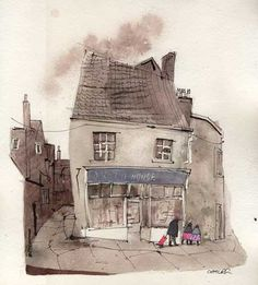 Frome Urban Sketching, Somerset, Fashion Art, Illustration, Art Styles, Painting, Buildings, Styles Of Art, Art Types
