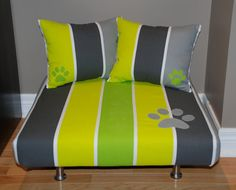 Large Upholstered Pet Bed with 2 Matching Pillows for by furluv, $149.00  furluv.etsy.com