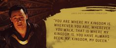 """You are where my Kingdom is."""