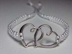 Two Hearts Bracelet by ByKarianne on Etsy, kr60.00/$10.34