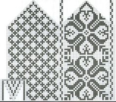 Knitting Graph Paper, Fair Isle Knitting, Knitting Charts, Knitting Stitches, Knitting Designs, Knitting Patterns, Knitted Mittens Pattern, Knit Mittens, Cross Stitch Tree