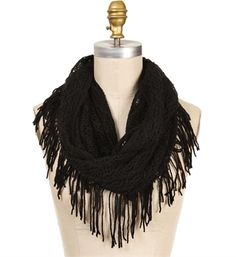 Knitted Crochet Infinity Scarf