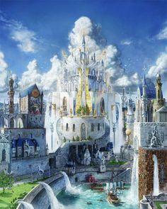 fantasy castle landscape setting places castles landscapes