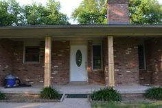 DIY Front Porch Columns   Beneath My Heart