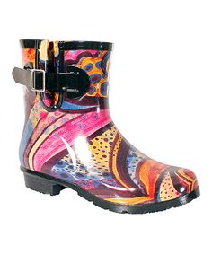 Love this Nomad Footwear Turquoise Monet Droplet Ankle Rain Boot by Nomad Footwear on #zulily! #zulilyfinds