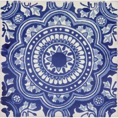 Roseton - Płytka ceramiczna sztuka