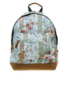 Mi Pac Floral Stripe Rose Backpack from asos.com. great for older kids.