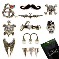 BMC 10pc Vintage Punky Metal Colored Stylish Rhinestone Womens Gothic Rings Popular Unique Adjustable Retro Accessories - http://www.wonderfulworldofjewelry.com/jewelry/rings/bmc-10pc-vintage-punky-metal-colored-stylish-rhinestone-womens-gothic-rings-popular-unique-adjustable-retro-accessories-ca/ - Your First Choice for Jewelry and Jewellery Accessories