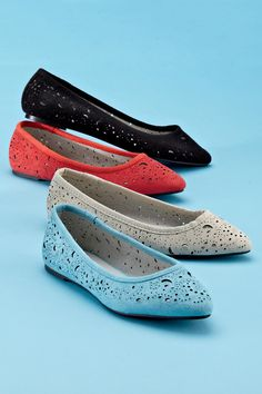 Perforated Pointy Toe Flats