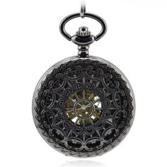 Vantasy Classic Antique Roman Half Hunter Black Steel Metal -- Remarkable product available now.