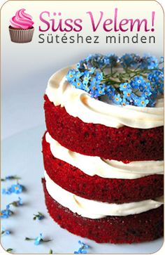 Red Velvet Cake With Cream Cheese Frosting 27 Desserts That Prove Cream Cheese Frosting Belongs On Everything Receita Red Velvet, Bolo Red Velvet, Bolos Naked Cake, Naked Cakes, Cake With Cream Cheese, Cream Cheese Frosting, Food Cakes, Red Velvet Cake Frosting, Mini Cakes