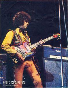 "glorifiedguitars: "" Gibson SG Used by Eric Clapton When in Cream - as requested… Rock N Roll, Cream Eric Clapton, John Mayall, Guitar Magazine, The Yardbirds, Gibson Sg, Best Guitarist, Music Pics, Music Music"