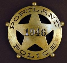 police badge from Portland, Oregon Police Dogs, Military Police, State Police, Police Officer, Law Enforcement Badges, Law Enforcement Officer, Fallen Officer, Fire Badge, Police Patches