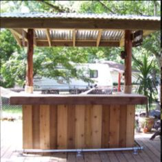 Outdoor Bar Ideas Offer A Great Solution To One Of The Issues With The  Summer Heat Which Is . An Outdoor Bar Idea Made From Wood.