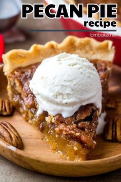 Looking for a pecan pie recipe you can make for fall? You should try this delicious Pecan Pie recipe. The crispy topping, the chunky pecans, the gooey center and oh, of course, the flaky crust. You cannot go wrong with this recipe! Make this easy fall dessert recipe now! Want more family dessert recipes? Visit iambaker.net now! #fall #fallrecipes #pecanpie
