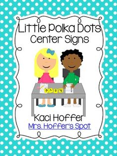 $4 Center Signs {Little Bright Polka Dots}
