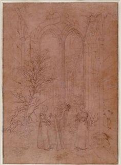 'Allegory of Profane Music', Oil by Caspar David Friedrich (1774-1840, Germany)