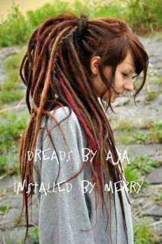dread hairstyles for white women with beads - Google Search