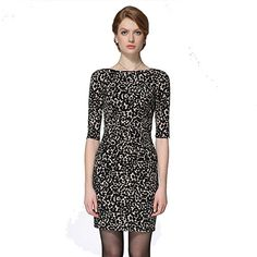 Sarah Dean Womens' Knit Black Dots Half Sleeve Dress   #FreedomOfArt  Join us, SUBMIT your Arts and start your Arts Store   https://playthemove.com/SignUp