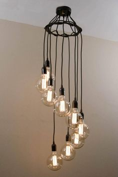 Spiral Edison Chandelier Custom Built For Any Specifications Available Now On Our Etsy