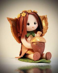Autumn Baby Fairy by fairiesbynuria on Etsy, $12.95