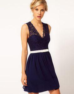 ☆ASOS☆ドレス♪   Scalloped Lace Skater Dress