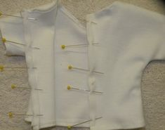 » Free pattern and directions for doll shirt with velcro down back