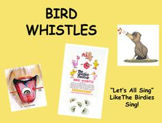 Bird Whistles (5 pack).... Why be the only one having all the fun. With our Family Fun Pack you and four of your family members can share in the fun and sound like a flock of crazy birds. These whistles are sometimes called a Prairie Whistle, Swiss Bird Warbler or Double Throat Whistle and even a Ventriloquist Reed.  Come with detailed instructions on how to prepare, use and maintain your whistles. Simple and easy to use. With a little practice you'll be driving the birds crazy…