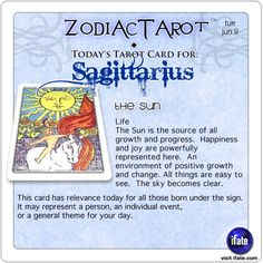 Zodiac Tarot for June 9: Sagittarius <br>  http://ifate.com