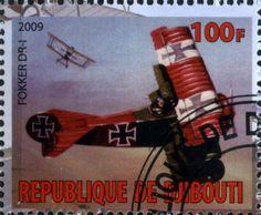 Stamp: Fokker DR-I (Cinderellas) (Djibouti) Col:DJ 2009-05/1