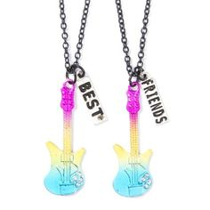 Rainbow Guitar BFF Necklaces