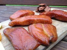 One of my roommates is obsessed with smoked salmon, and he got the rest of us into it. I mean I liked it before, but we've taken smoked salmon indulgence to near sinful levels. This was actu… Mission Bbq, Smoked Salmon Recipes, Glazed Salmon, Smoked Turkey, Smoker Recipes, Roommates, Sausage, Grilling, Rest
